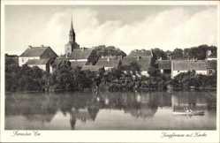 Ak Pełczyce Bernstein Neumark Ostbrandenburg, Jungfernsee mit Kirche