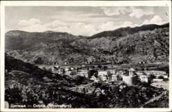 Postcard Cetinje Montenegro, Panorama der Stadt, Gebirge