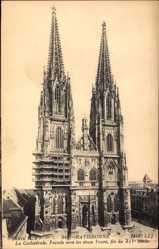 Postcard Regensburg, Kathedrale St Peter, gotisches Bauwerk