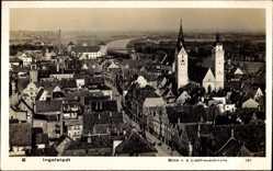 Postcard Ingolstadt, Blick von der Liebfrauenkirche über die Stadt