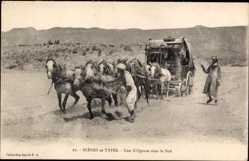 Postcard Maghreb, Scènes et Types, Une Diligence dans le Sud,Collection Idéale P.S. 27