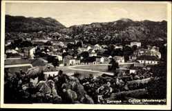 Postcard Cetinje Montenegro, Panoramablick auf den Ort mit Umgebung
