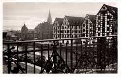 Ak Bydgoszcz Bromberg Westpreußen, Alte Speicher an der Brahe