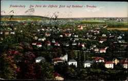 Ansichtskarte / Postkarte Radebeul, Friedensburg, Blick auf Stadt, Dresden