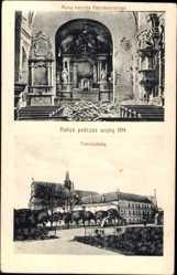 Ak Kalisz Kalisch Posen, Ruiny kosciola Reformatorskiego, Franciszkany