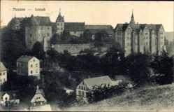 Ansichtskarte / Postkarte Nossen Landkreis Meißen, Ansicht vom Schloss, Umgebung