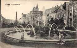Postcard Košice Kassa Kaschau Slowakei, Szökökut, Blick auf einen Brunnen