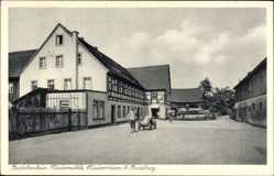 Ansichtskarte / Postkarte Niederrödern Ebersbach, Burschenheim Niedermühle, Brüderanstalt Moritzburg