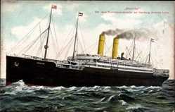 Postcard Dampfschiff Amerika, HAPAG, Riesenozeandampfer