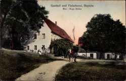 Ansichtskarte / Postkarte Heynitz Nossen Landkreis Meißen, Gasthof und Fleischerei, Hugo Dietze