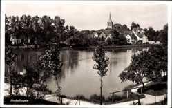 Postcard Sindelfingen Kreis Böblingen, Blick übers Wasser auf die Ortschaft