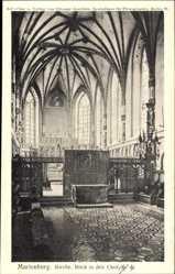Ak Malbork Marienburg Westpreußen, Kirche, Innenansicht, Blick in den Chor
