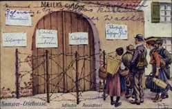 Künstler Ak Thiele, Arthur, Hamstererlebnisse, Schlechte Aussichten