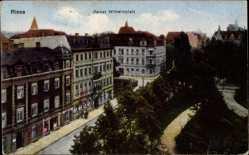 Postcard Riesa an der Elbe Sachsen, Kaiser Wilhelmplatz, Gebäude