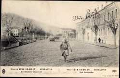 Postcard Monastir Bitola Mazedonien, Anciennes Casernes, Soldat, Guerre 1917
