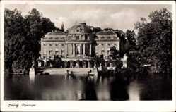 Postcard Ludwigsburg, Blick über Gewässer auf Schloss Monrepos