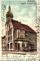 Postcard Rheydt Mönchengladbach, Blick auf das Postamt, Seitenansicht