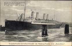 Postcard Doppelschrauben Schnellpostdampfer Deutschland, HAPAG