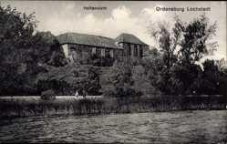 Ak Lochstedt Ostpreußen, Ordensburg Lochstedt, Haffansicht, Gewässerpartie