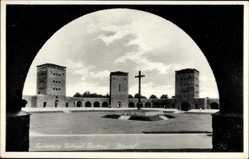 Ak Olsztynek Hohenstein Ostpreußen, Tannenberg Nationaldenkmal, Ehrenhof