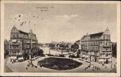 Ak Kaliningrad Königsberg Ostpreußen, Blick auf den Münzplatz, Cafe Excelsior