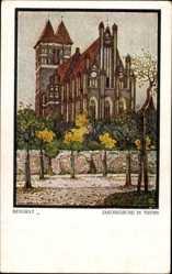 Künstler Ak Bendrat, Toruń Thorn Westpreußen, Blick auf die Jakobkirche