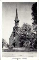Postcard Schenefeld, Blick auf die Bonafatius Kirche, Vorderansicht