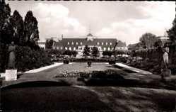 Postcard Wiesdorf Leverkusen, Karl Duisburg Park mit Blick zum Kasino