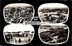 Postcard Waldbröl im Oberbergischen Kreis, Krankenhaus, Hallenberg Gymnasium