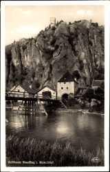 Postcard Neuessing Essing Altmühltal, Burgberg, Brücke, Toreingang