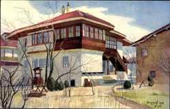 Künstler Ak Berghoff, Niš Nisch Serbien, Blick auf Türkisches Haus
