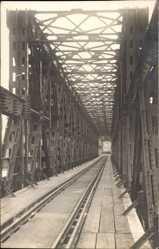 Foto Ak Belgrad Serbien, Blick auf eine Brücke, Eisenbahnbrücke