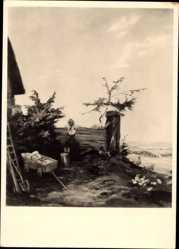 Künstler Ak Traub, Gustav, Ausguck, HDK 504, Idyll, Kinder
