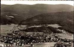 Postcard Lam im Bayerischen Wald Oberpfalz, Panoramablick auf den Ort