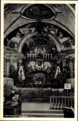 Postcard Baar Ebenhausen Bayern, Heiliges Grab, Kapelle, Innenansicht