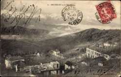 Postcard Michelet Algerien, Djudjura, Blick auf den Ort, Berge, Häuser