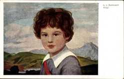 Künstler Ak Zumbusch, Ludwig von, Fritzl, Portrait eines Jungen
