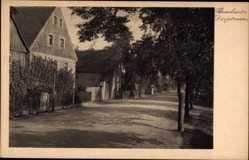 Ansichtskarte / Postkarte Brockwitz Coswig in Sachsen, Blick in die Dorfstraße