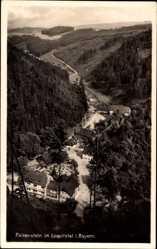 Postcard Falkenstein im Loquitztal in Bayern, Blick auf den Ort, Wald, Häuser
