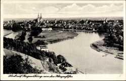 Postcard Regensburg an der Donau Oberpfalz, Blick auf den Ort von der Winzerhöhe