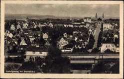 Postcard Ludwigsburg in Baden Württemberg, Blick auf den Ort mit Stadtkirche
