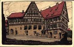 Steindruck Ak Esslingen am Neckar Baden Württemberg, Sektkellerei von Kessler