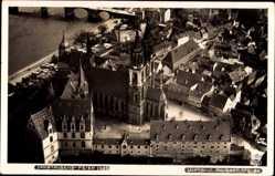 Ansichtskarte / Postkarte Meißen in Sachsen, Blick auf den Ort, Dom, Fliegeraufnahme, Hahn 5652