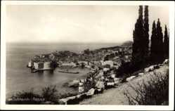Postcard Dubrovnik Kroatien, Blick über das Wasser, Siedlung an der Küste