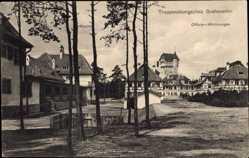 Postcard Grafenwöhr im Oberpfälzer Hügelland, Truppenübungsplatz, Offizierswohnungen