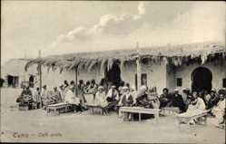 Postcard Tunis Tunesien, Café arabe, Arabisches Café, Tunesier