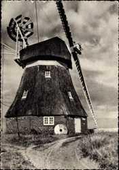 Postcard Harksheide Norderstedt im Kreis Segeberg, Blick auf eine Windmühle