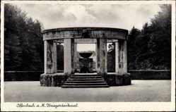 Postcard Offenbach am Main Hessen, Ansicht vom Kriegerdenkmal