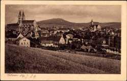 Postcard Cham am Fluss Regen Oberpfalz, Panorama der Stadt, Kirche