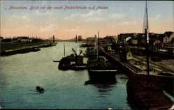 Postcard Mannheim in Baden Württemberg, Blick von der neuen Neckarbrücke